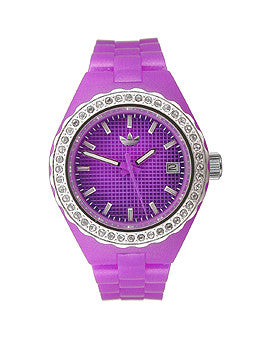 Adidas Mini Cambridge Date Window Purple Dial Womens watch #ADH2107