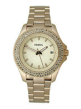 Fossil Retro Traveler Three-Hand Stainless Steel - Rose Womens watch #AM4454