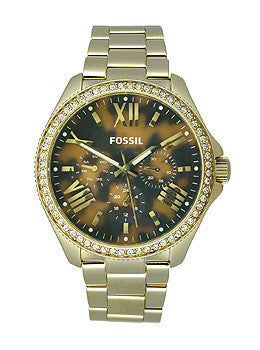 Fossil Cecile Multifunction Stainless Steel - Gold-Tone Womens watch #AM4498