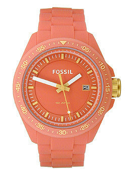 Fossil Decker Three-Hand Silicone - Orange Mens watch #AM4504