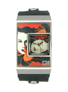 01TheOne Unisex Analog Josef Bauer Wrist Art watch #AN02M05