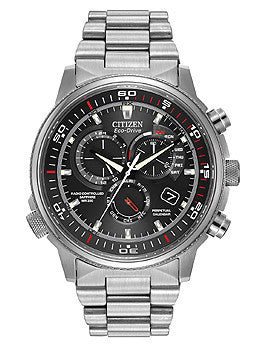 Citizen Eco-Drive Nighthawk A-T Stainless Steel Mens watch #AT4110-55E