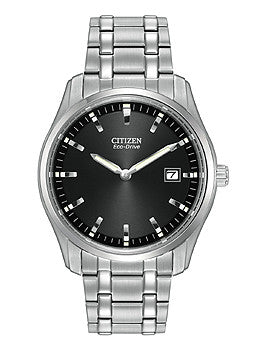 Citizen Eco-Drive Two-Hand Stainless Steel Mens watch #AU1040-59E