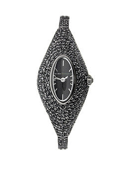 BCBG Two-Hand Black Stainless Steel Womens watch #BG8084