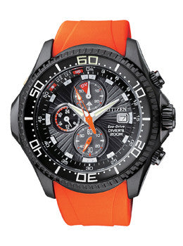Citizen Promaster Depth Meter Chronograph Mens watch #BJ2118-09E