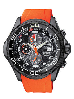 Citizen Promaster Depth Meter Chronograph Mens watch #BJ2119-06E