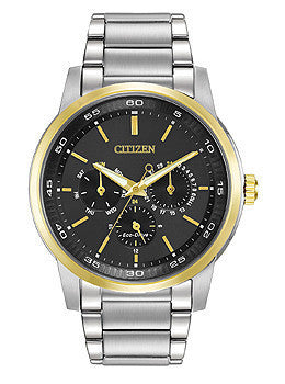 Citizen Eco-Drive Dress Multifunction Stainless Steel - Two-Tone Mens watch #BU2014-56E