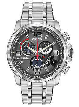 Citizen Eco-Drive Chrono Time A-T Stainless Steel Mens watch #BY0100-51H