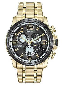 Citizen Eco-Drive Chrono Time A-T Stainless Steel - Rose-Gold Mens watch #BY0108-50E