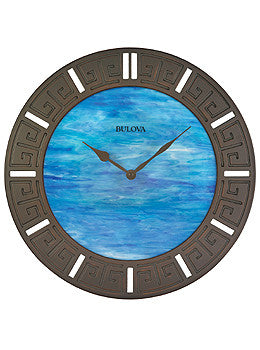 Bulova Oceanic Fired Glass Wall clock #C4371