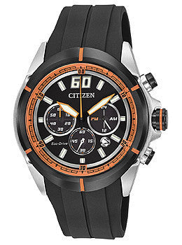 Citizen Eco-Drive Drive HTM Chronograph Polyurethane - Black Mens watch #CA4108-04E