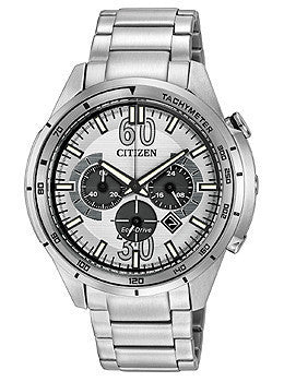 Citizen Eco-Drive Drive HTM Chronograph Stainless Steel Mens watch #CA4121-57A