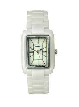 Fossil Ceramic White Mother-of-pearl Womens watch #CE1026
