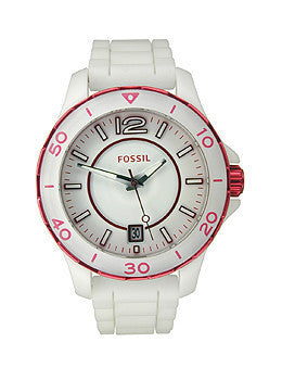 Fossil Riley Silicone & Ceramic Womens watch #CE1048
