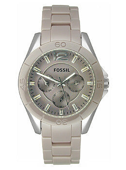 Fossil Riley Ceramic - Antique Pearl Womens watch #CE1065