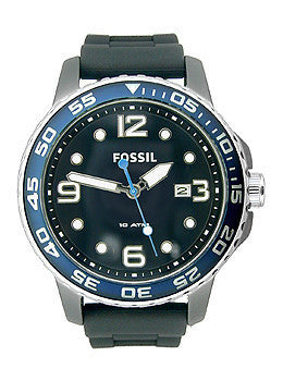 Fossil Ceramic Silicone Black Dial Mens watch #CE5004