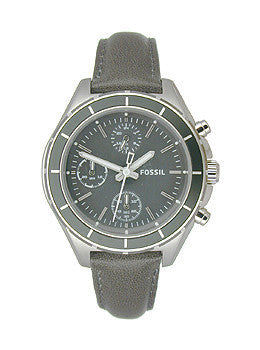 Fossil Dylan Chronograph Leather - Grey Womens watch #CH2831