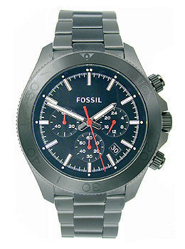 Fossil Retro Traveler Chronograph Stainless Steel - Black Mens watch #CH2863