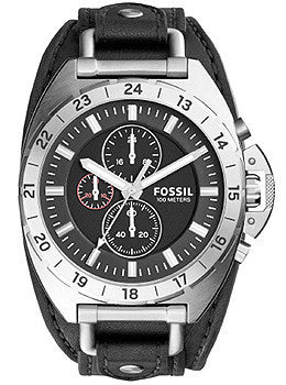 Fossil Breaker All-Terrain Chronograph Leather - Black Mens watch #CH3003