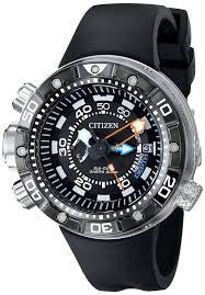 Eco-Drive Men's BN2029-01E Promaster Aqualand Depth Meter Analog Display Black Watch