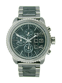 Diesel Double Down 46 Chronograph Stainless Steel - Gunmetal Womens watch #DZ5388
