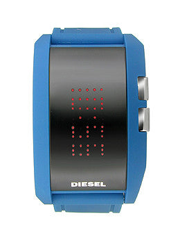 Diesel Digital Silicone Strap Negative Black Dial Mens watch #DZ7166