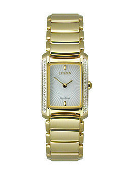 Citizen Eco-Drive Euphoria Two-Hand Stainless Steel - Gold-Tone Womens watch #EG2962-51A