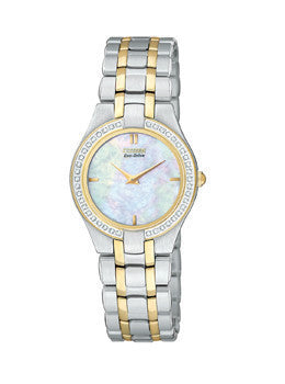 Citizen Eco-Drive Stiletto 42 Diamonds Mother-of-pearl Dial Womens watch #EG3154-51D