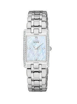 Citizen Eco-Drive Stiletto Mother-of-pearl Dial Womens watch #EG3170-54D
