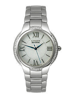 Citizen Eco-Drive Silver-Tone Dial Womens Watch #EM0090-57A