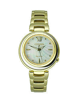 Citizen Eco-Drive Sunrise Stainless Steel - Gold-Tone Womens watch #EM0334-54D