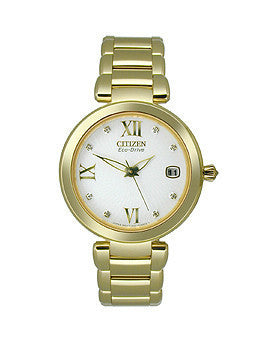 Citizen Eco-Drive Signature Collection White Dial Womens Watch #EO1112-58A