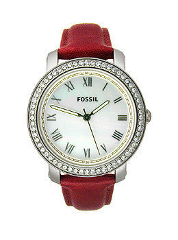 Fossil Emma Leather - Red Womens watch #ES3190