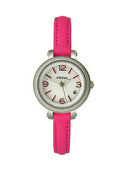 Fossil Heather Three-Hand Leather - Pink Womens watch #ES3302