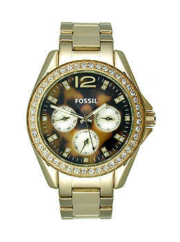 Fossil Riley Multifunction Stainless Steel - Gold-Tone Womens watch #ES3364