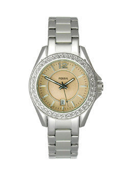 Fossil Riley Mini Three-Hand Stainless Steel Womens watch #ES3378