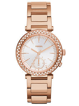 Fossil Urban Traveler Multifunction Stainless Steel - Rose Womens watch #ES3851