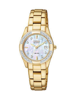 Citizen Eco-Drive Diamonds Regent Mother-of-pearl Dial Womens watch #EW1822-52D
