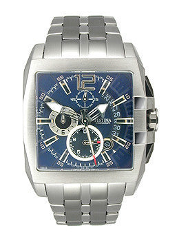 Festina Steel Collection Chronograph Indigo Blue Dial Mens watch #F16393/2
