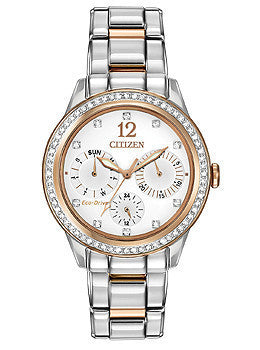 Citizen Eco-Drive Silhouette Multifunction Stainless Steel - Two-Tone Womens watch #FD2016-51A