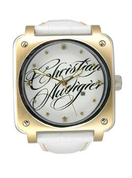 Christian Audigier Fortress Collection Wild Twins Two-tone Unisex Watch #FOR-204