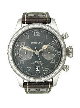 Hamilton Khaki Pioneer Auto Chrono Charcoal Dial Mens watch #H60416583