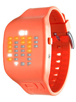 01TheOne Ibiza Ride Digital Orange Dial Unisex watch #IC900M3OR