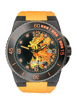 Ed Hardy Immersion Dragon Black Dial Mens watch #IM-DR