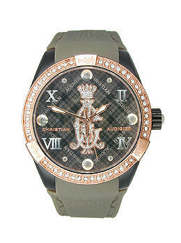 Christian Audigier Intensity Series Black Argyle Black-Grey Dial Womens Watch #INT313