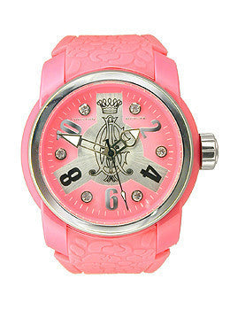 Christian Audigier Intensity Collection Spoiler Pink Dial Womens watch #INT319