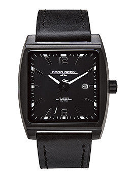Jorg Gray Leather Black Dial Mens watch #JG5200-17