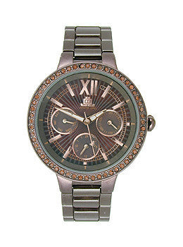 JLO Multifunction Ceramic - Brown Womens watch #JL/2702BMBN