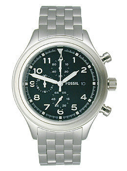 Fossil Compass Chronograph Stainless Steel - Black Mens watch #JR1431