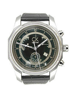 Calvin Klein Celerity Chronograph Stainless Steel Black Dial Mens Watch #K7731102